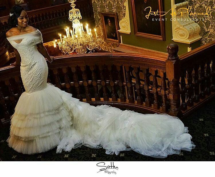 Alonuko Bridal Wear and Wedding Dress Designer London UK for African Caribbean Brides