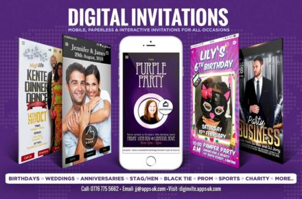 Digital Anniversary and Wedding Invitations - Afro Caribbean Wedding UK