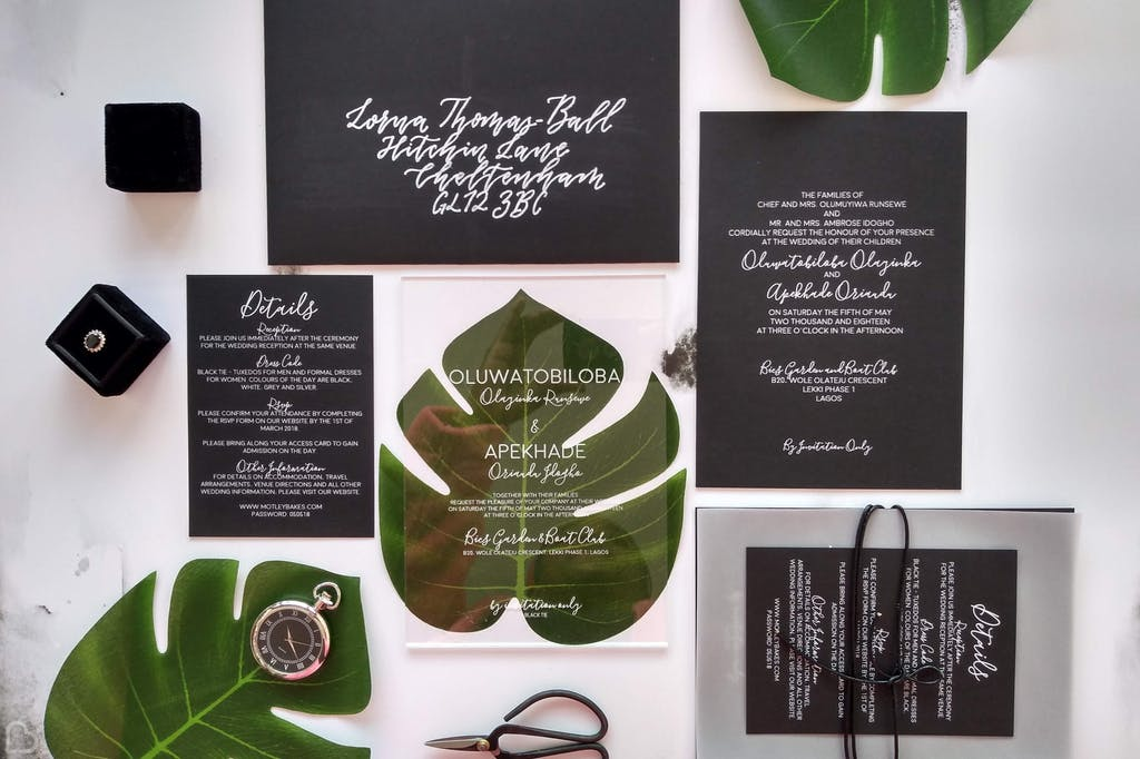 Studio Oudizo Wedding Stationaries and Calligraphy Designs