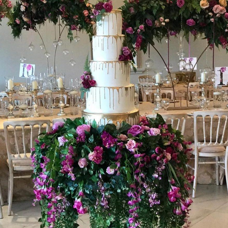 Sweet Hollywood Wedding Cake Designer London