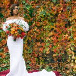 AutumnWinter 2019 Eritrean Bridal Shoot rich in Floral Design by Queen of Hearts Floral Designer London