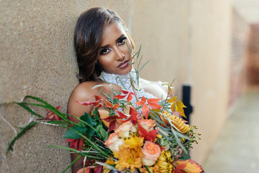 AutumnWinter 2019 Eritrean Bridal Shoot rich in Floral Design by Queen of Hearts Floral Designer London