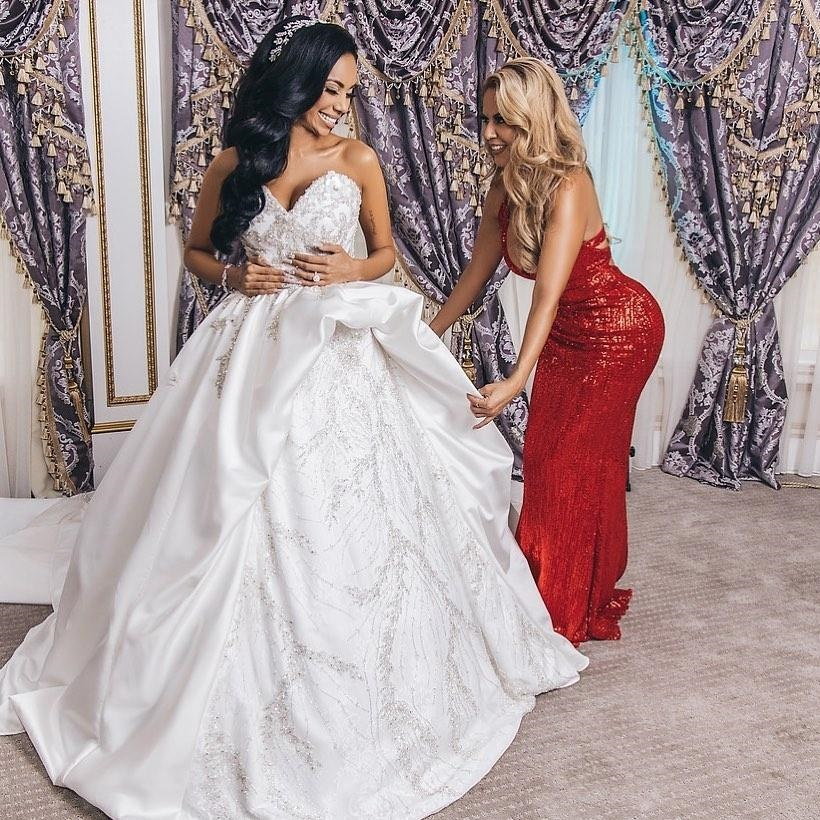 Safaree and Erica Mena's Wedding Shut Down New Jersey Big Time - Wedding Gown styled by Vainglorious Brides