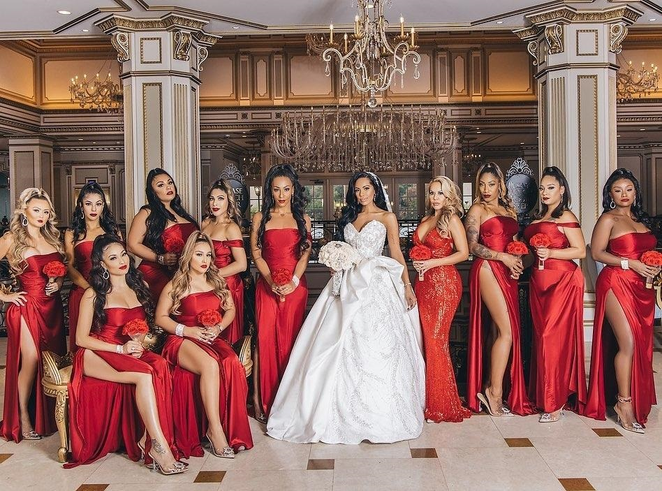 Safaree and Erica Mena's Wedding Shut Down New Jersey Big Time - Erica Mena in formation with her Bridesmaids