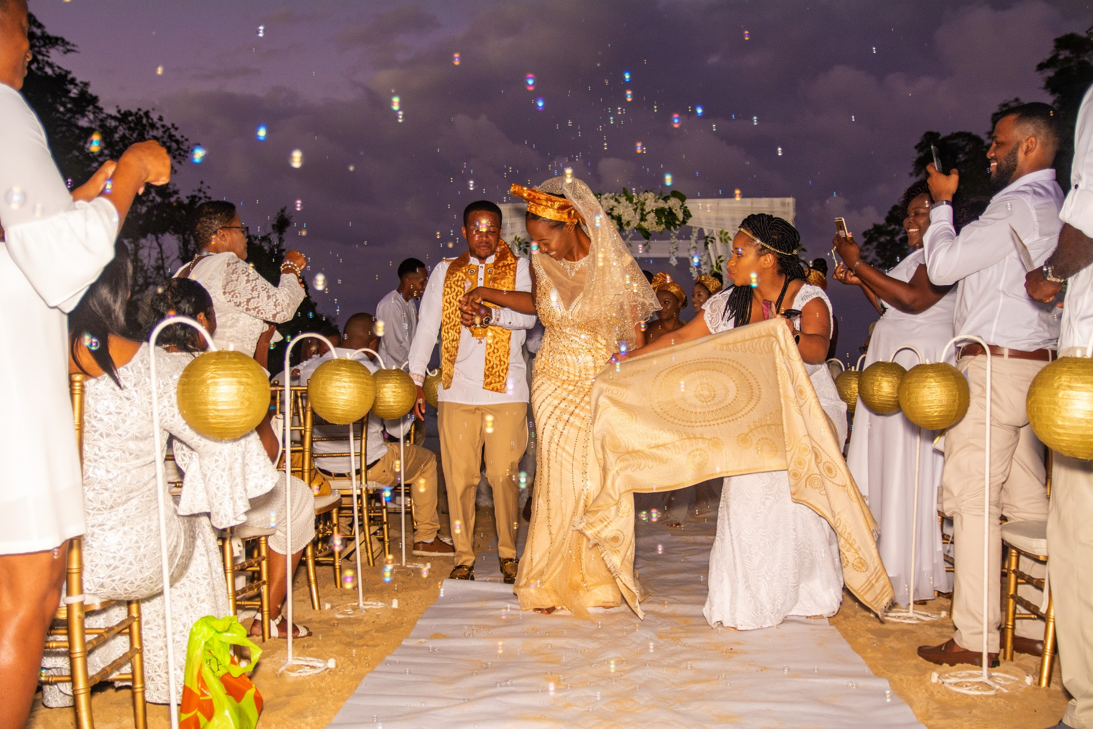 Debronique 🇯🇲 and Toni's 🇿🇼  Beautiful Beach Wedding in Jamaica