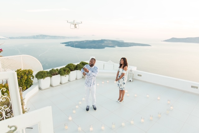 Joia and Giovanni Romantic Proposal in Santorini #Meetthemoises