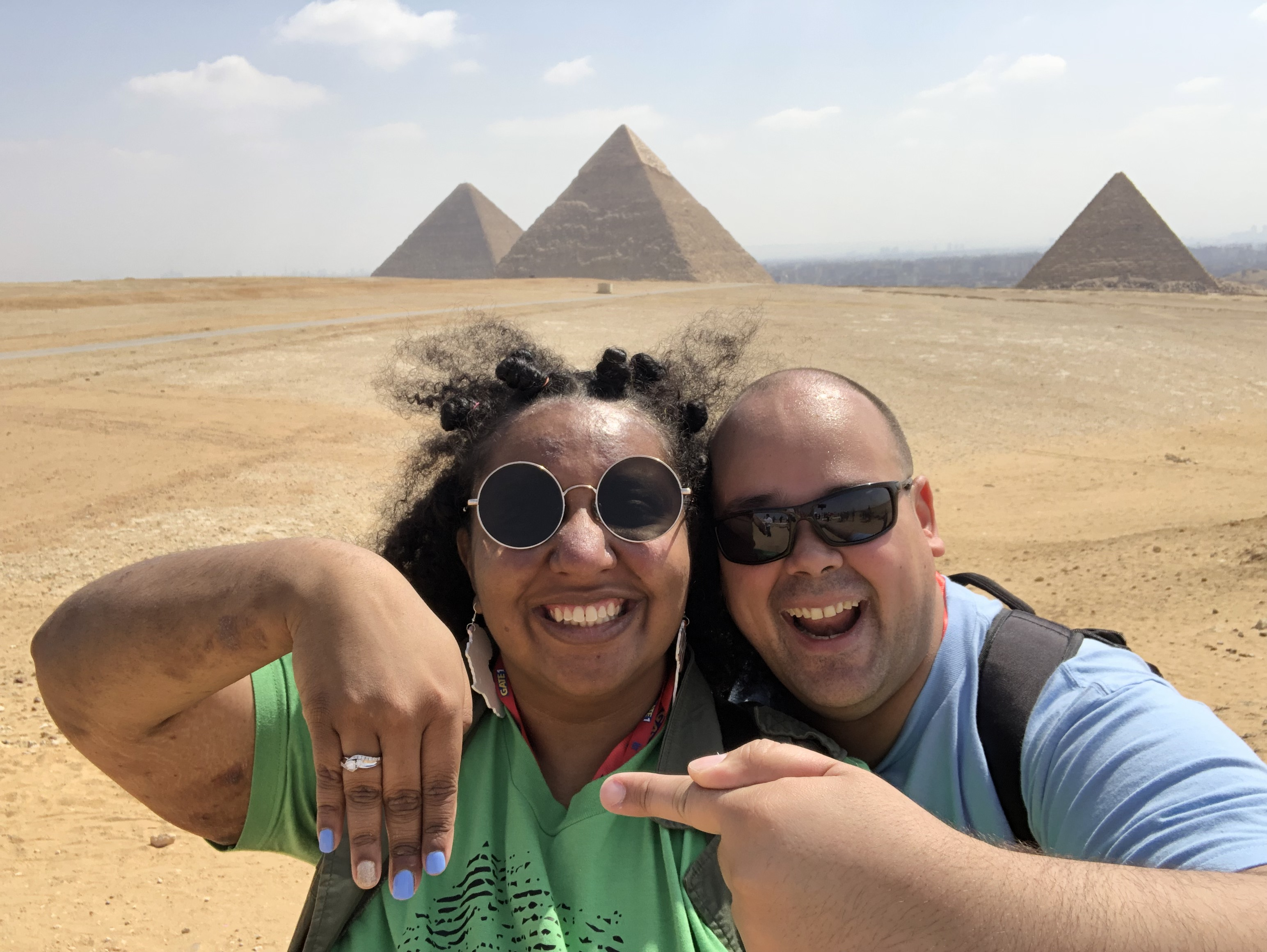 Princess and Andy's Destination Proposal at The Great Pyramid of Giza, Egypt