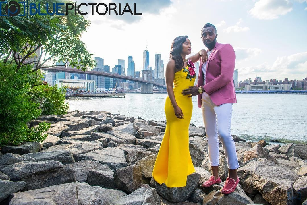 Blue Pictorial African American New York Wedding Photographer