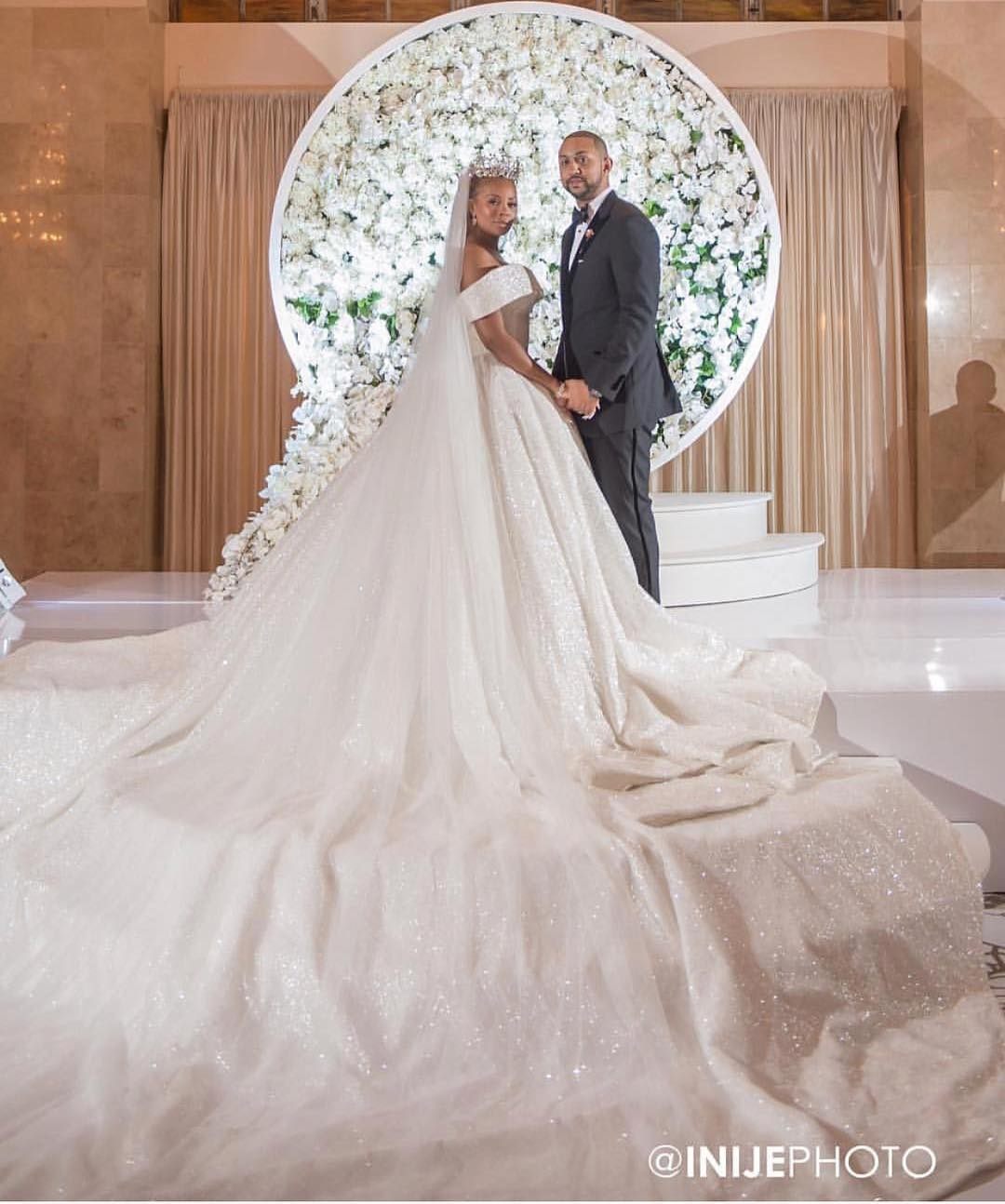 Eva Marcille's wedding gown designed by Daughters of Nonyelum