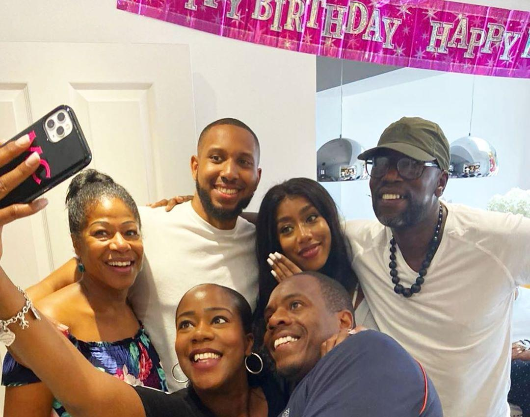 Tazer and Kamille's family on her birthday turn surprise proposal