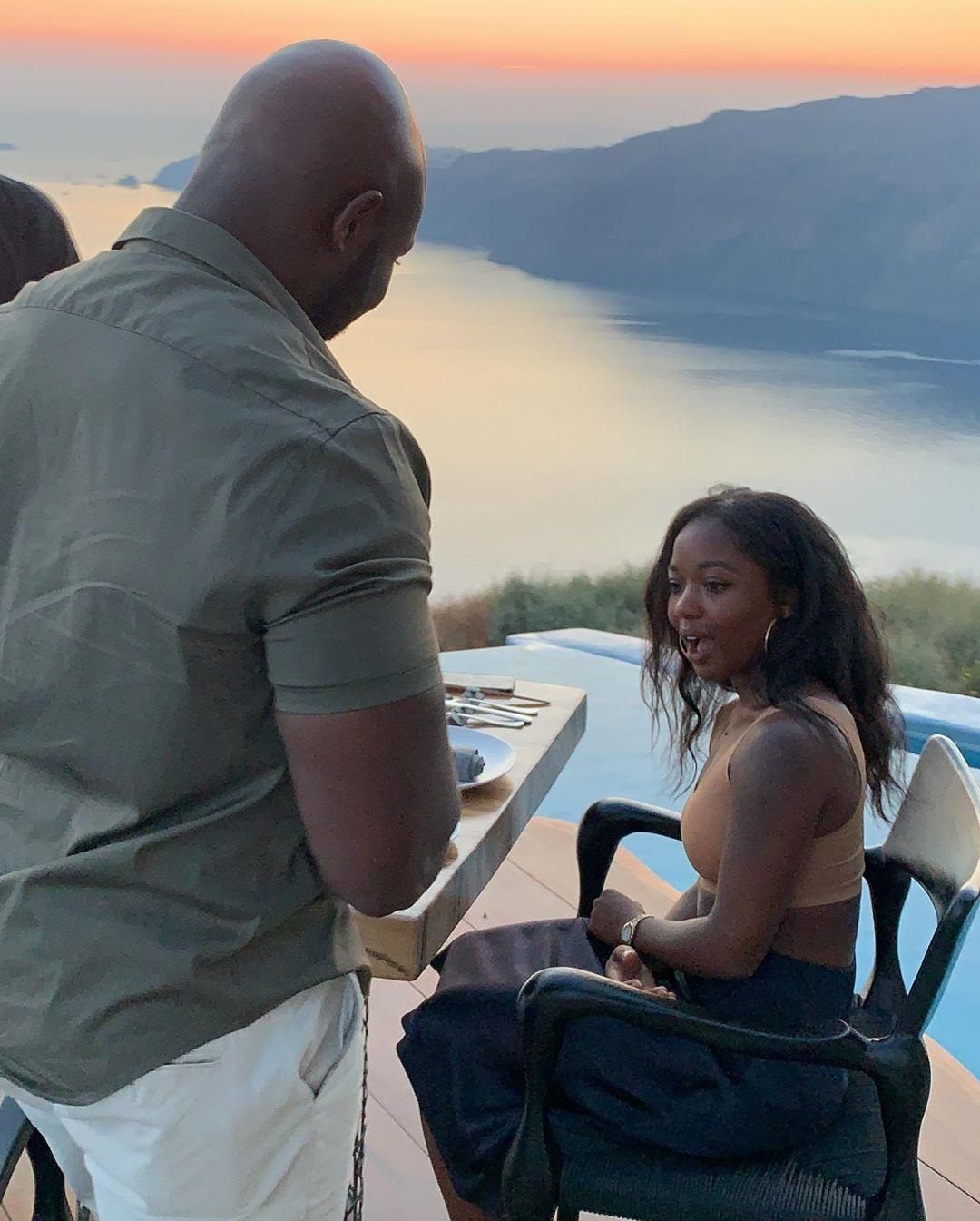 Laura and Henry's Romantic Proposal in Santorini Greece