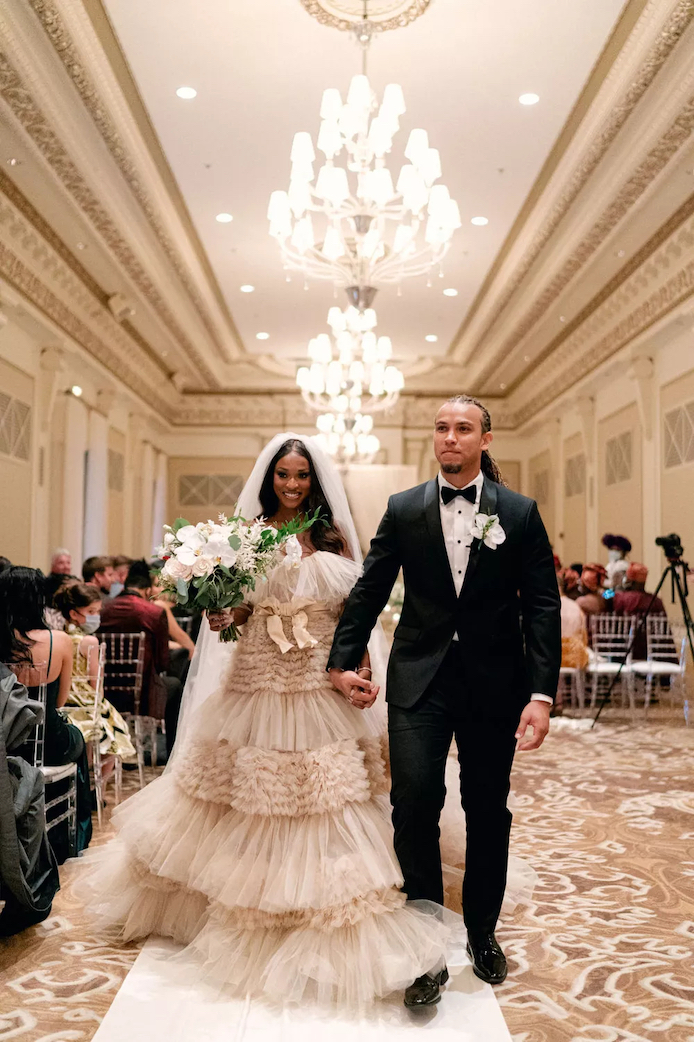 MTV's Are You the One? Stars Clinton Moxam and Uche Nwosu Beautiful Chicago Wedding